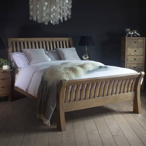 Winchester Rustic Reclaimed Wooden Bed