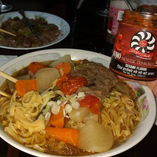WOW! GREAT STUFF! EXCELLENT ON CHINESE NOODLES – MOMO SAUCE – SESAME FLAVOR - Patrick W.