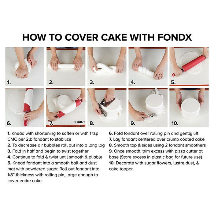 Red Rolled Fondant Icing for cake decorating your own cake with FondX fondant. | CaljavaOnline.com