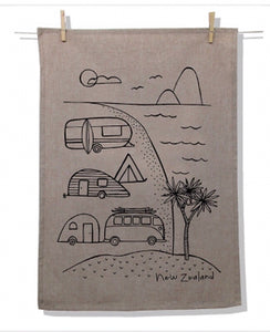 Natural Tea Towel (Variety of Prints)