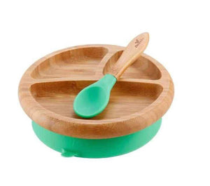 Avanchy Bamboo Suction Baby Plate & Spoon Set