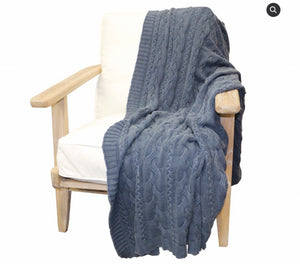 Cotton Cable Throw (125 x 150)