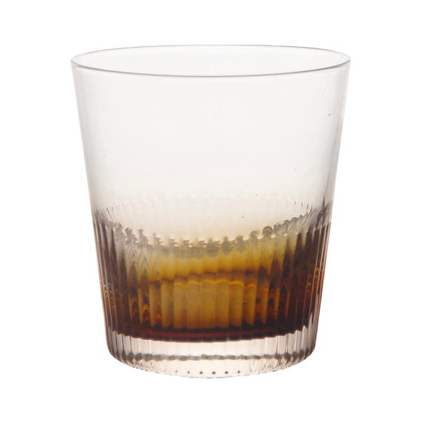 Ambretta Ridged Whiskey Glasses - Set of 4