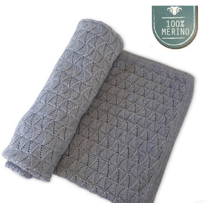Eco Sprout Merino Vintage Baby Blanket