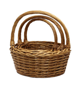 Willow Shopping Round Basket