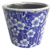 Load image into Gallery viewer, Large Blue & White Planters
