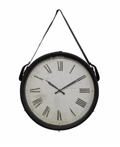 Hanging Clock Faux Leather Strap