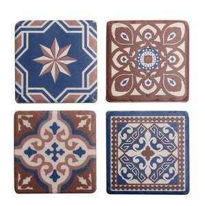 Morrocan Azure Blue Coasters Set of 4