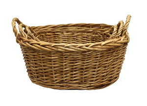 Willow Washing Basket Oval
