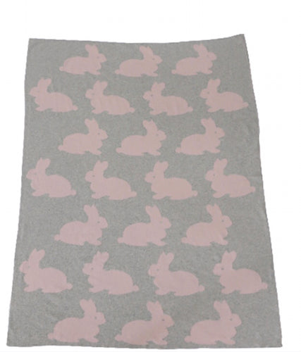 Cotton Throw Multi Bunnies