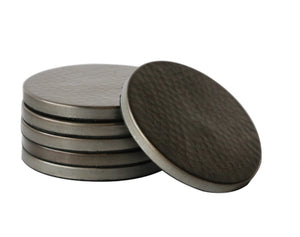 Set 6 Hammered Coasters
