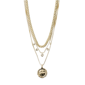 Air Necklace - Multi - Gold Plated - Pilgram