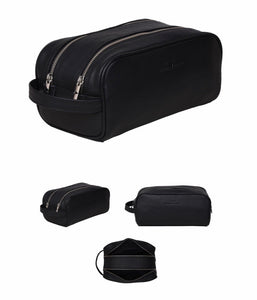 Marco Leather Wash Bag - Rambler Black
