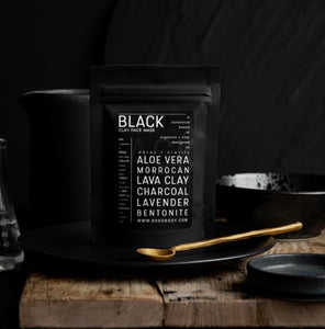 Black Clay Mask | Activated Charcoal and Aloe Vera - Koko Body