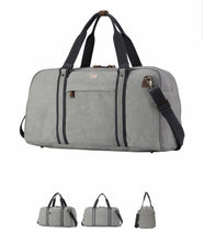 Load image into Gallery viewer, Men's Explorer Hold All - Ash Grey with Black Trim