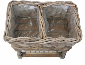 Rattan Basket Planter - Natural