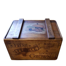 Load image into Gallery viewer, Wooden Vegetable Box with Lid