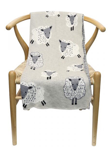 Lamb Cotton Throw