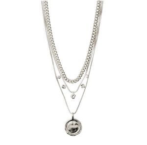 Air Necklace - Multi - Silver Plated - Pilgram