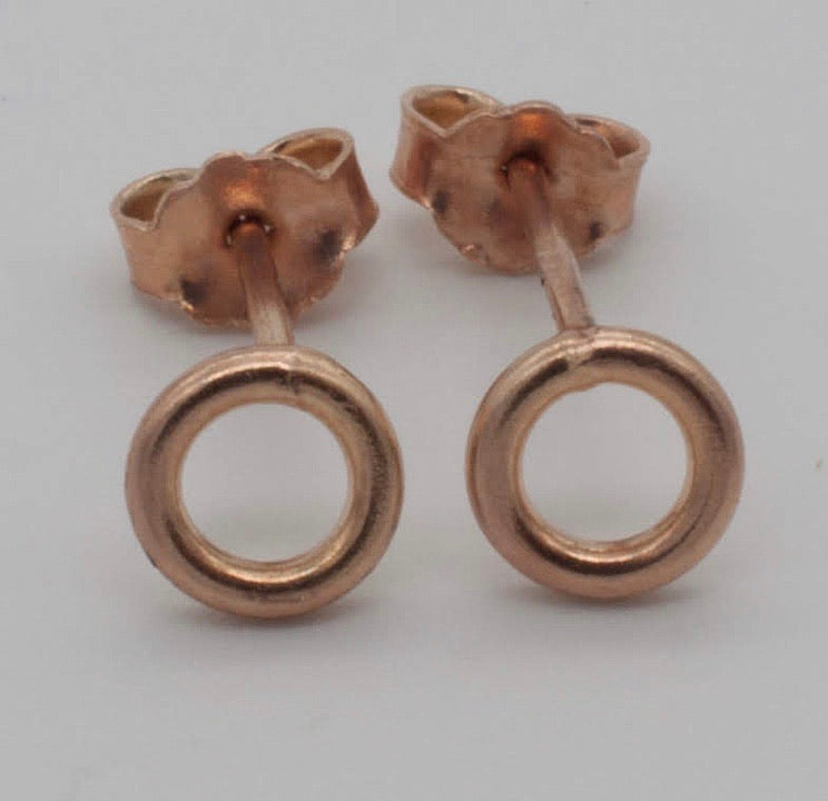 Gaviota - XS Aro Plated Rose Gold Stud