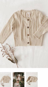 Karibou Kids - Penny Light Cotton Knit Cardigan - Oatmeal