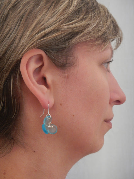 Bombay Flower Earrings - Light Blue