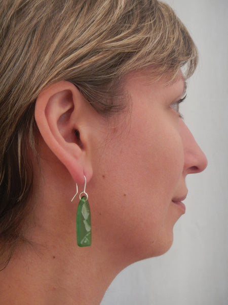 Glass Fantail Earrings