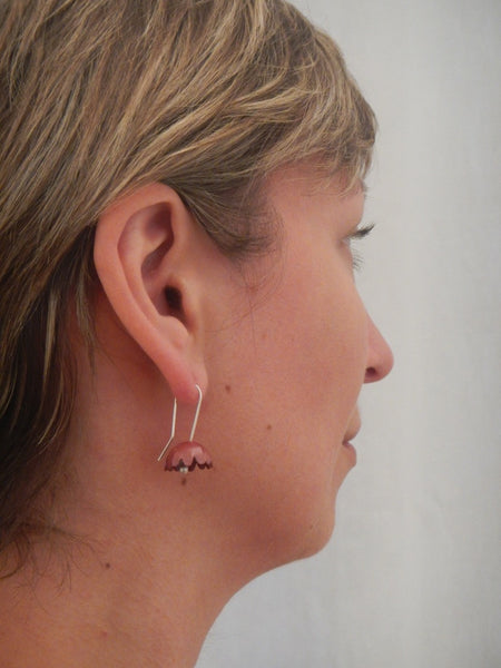 Copper Buttercup Earrings