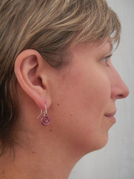 Koru Drop Copper Earrings