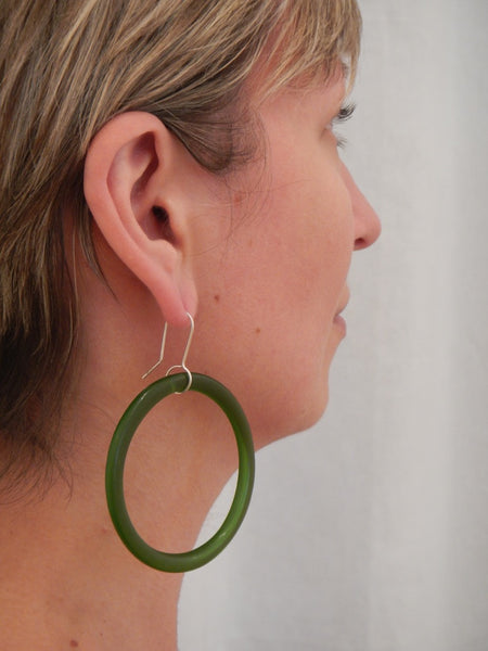 Large Hoop Earrings - Two Colours Available