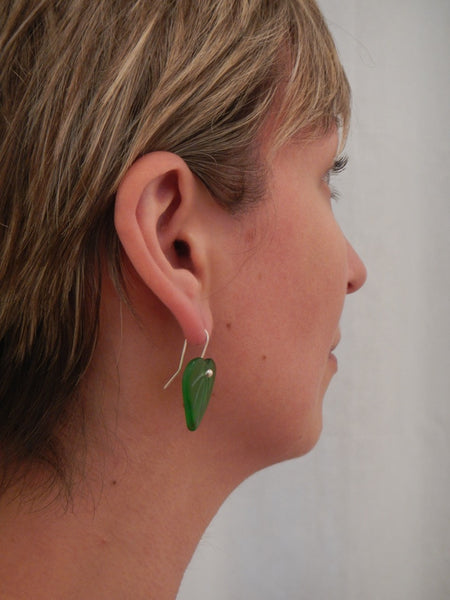 Kawakawa Leaf Earrings - Green