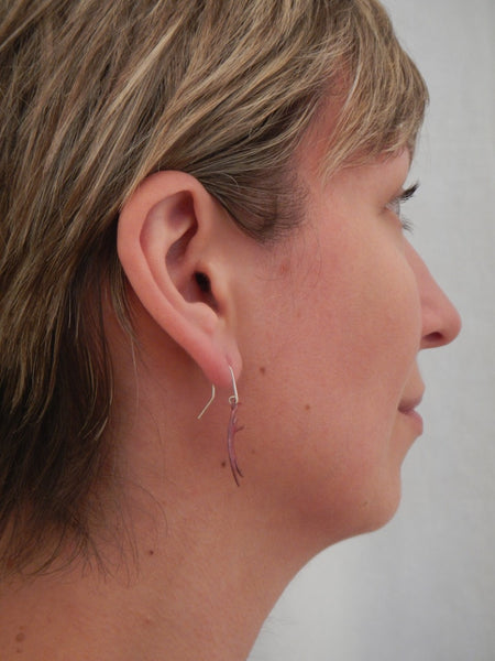 Copper Curve Dancer Earrings