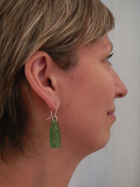 Glass Fern Frond Earrings