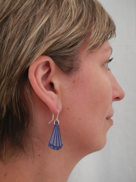 Fantail Tail Earrings - Dark Blue
