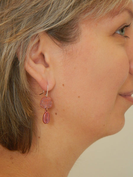 Flat White Please Earrings - Copper