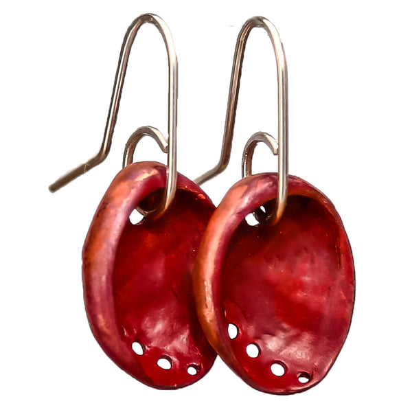Copper Baby Paua Earrings