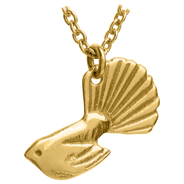 Small Gold Fantail Pendant