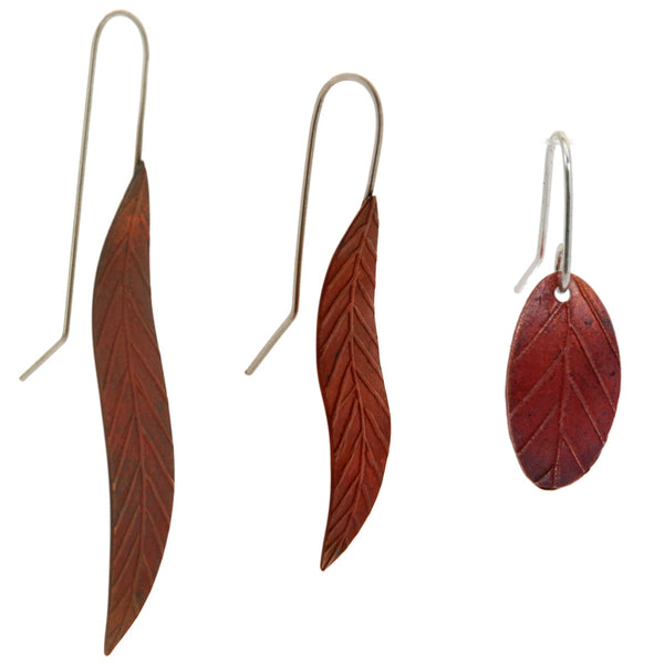 Copper leaves collection