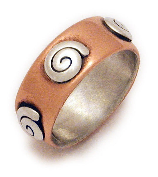 Copper Spiral Band