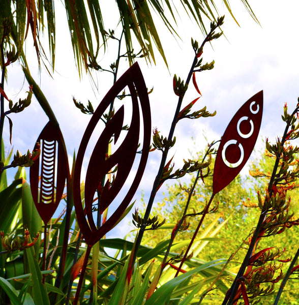 Nikau - Corten Spear Garden Art