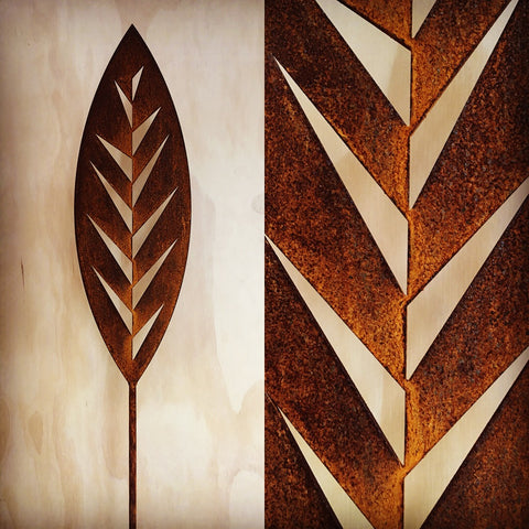 Leaf - Corten Spear Garden Art