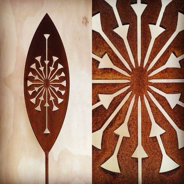 Tohu - Corten Spear Garden Art