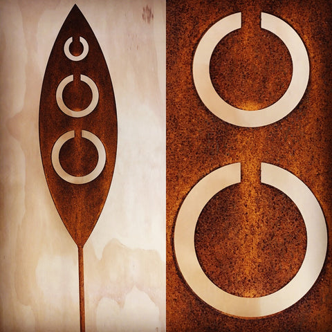 Tribal - Corten Spear Garden Art
