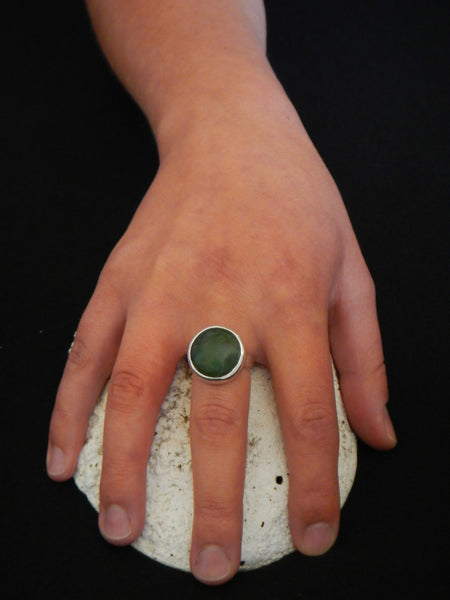 New Zealand Greenstone Ring Small