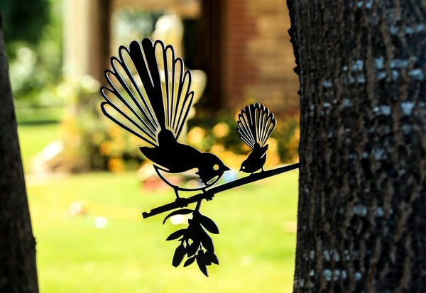 Fantail with Baby - Garden Art