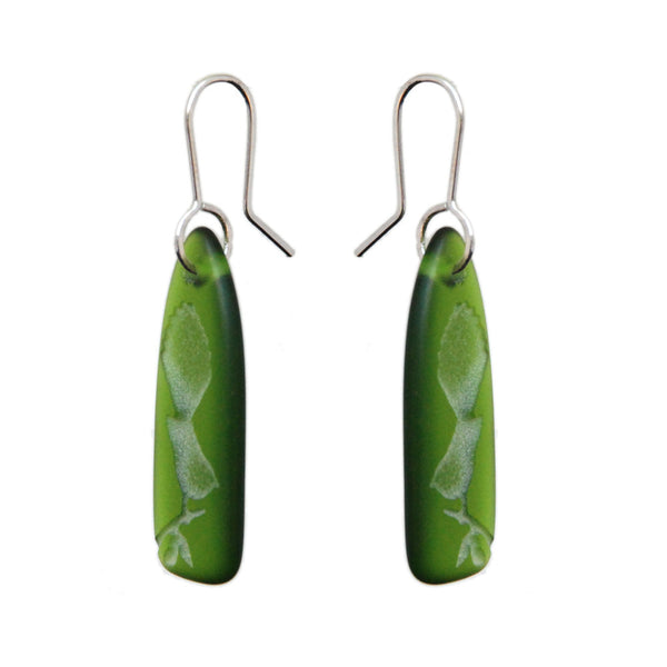 Recycled Glass Fantail Earrings