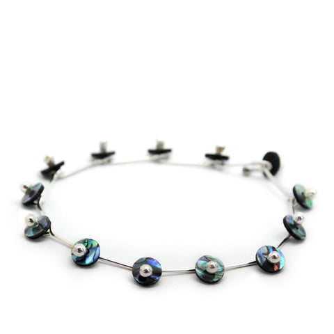 Glint Paua and Sterling Silver Bracelet