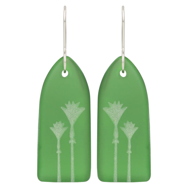 Glass Nikau Earrings