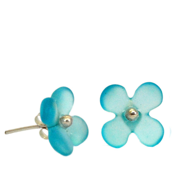 Hydrangea Flower Studs - Three Colours Available