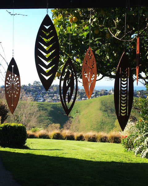 Tribal - Corten Spinning Garden Art